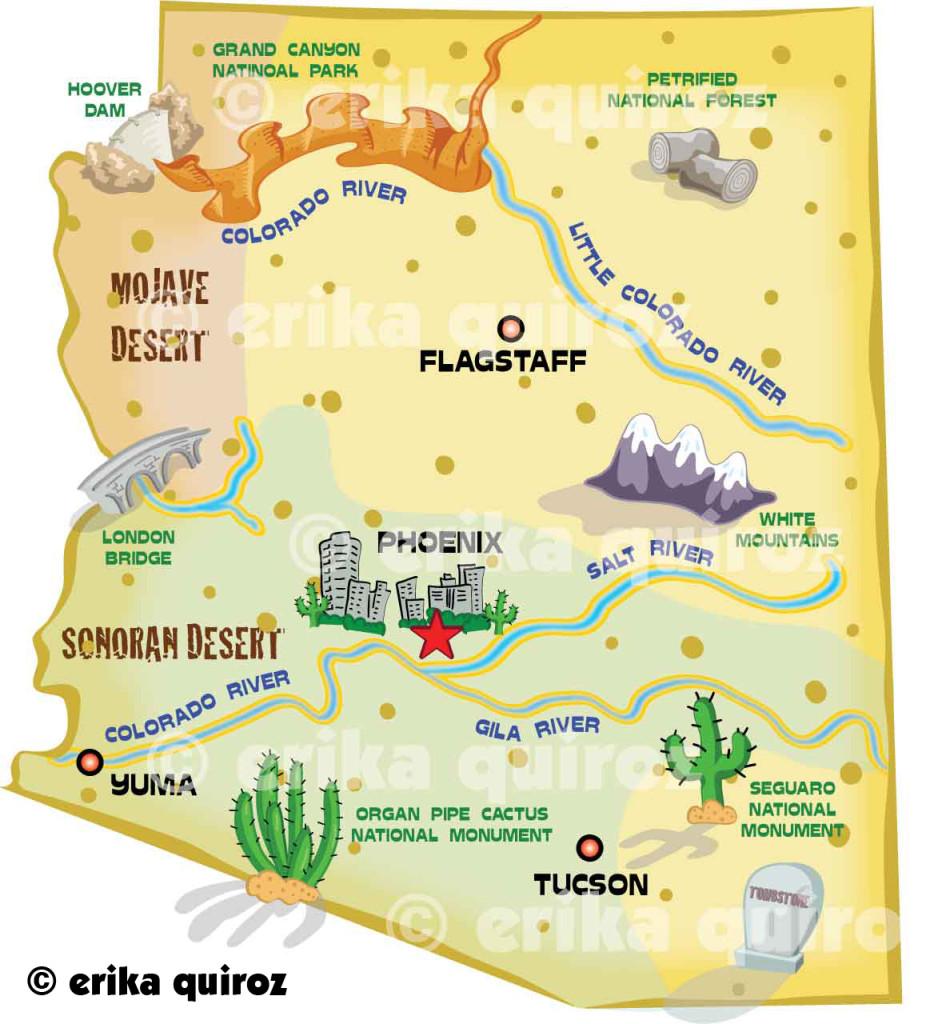 The Capital Of Arizona Is Phoenix ThingLink - Arizona physical map