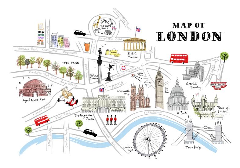 Cartina Londra Con Monumenti.Tour Around London By Luca Valverde