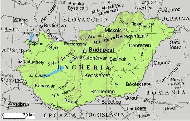 Cartina Geografica Europa Budapest.Ungheria