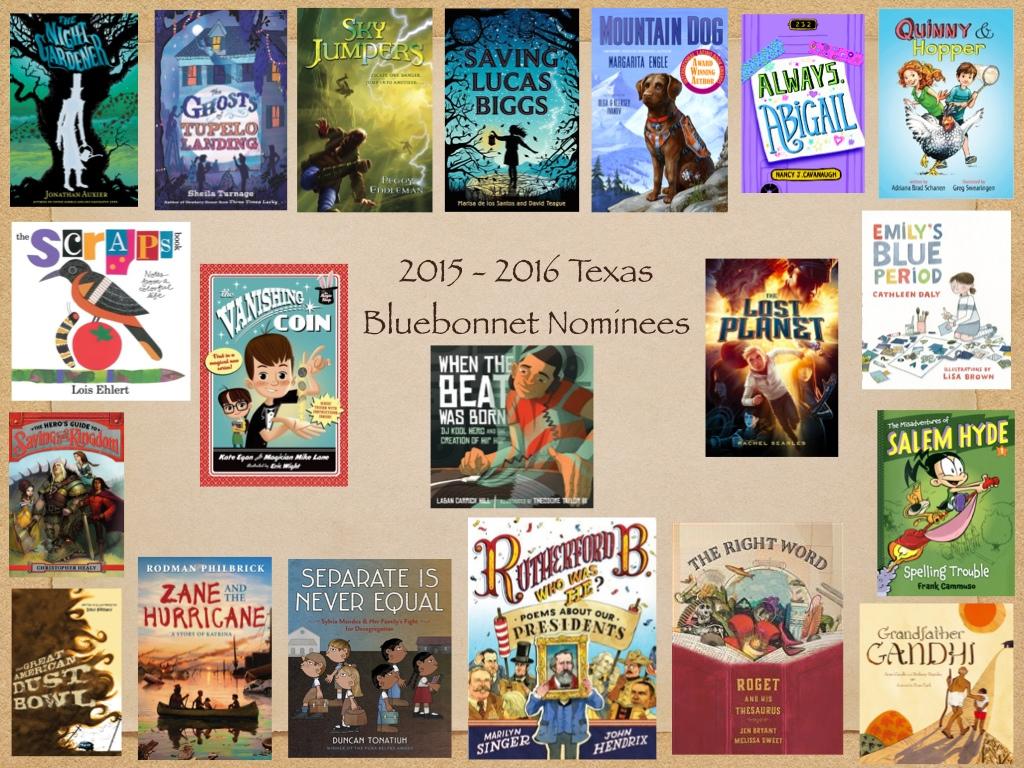 Bluebonnet Book Nominees 2015 - 2016 - ThingLink