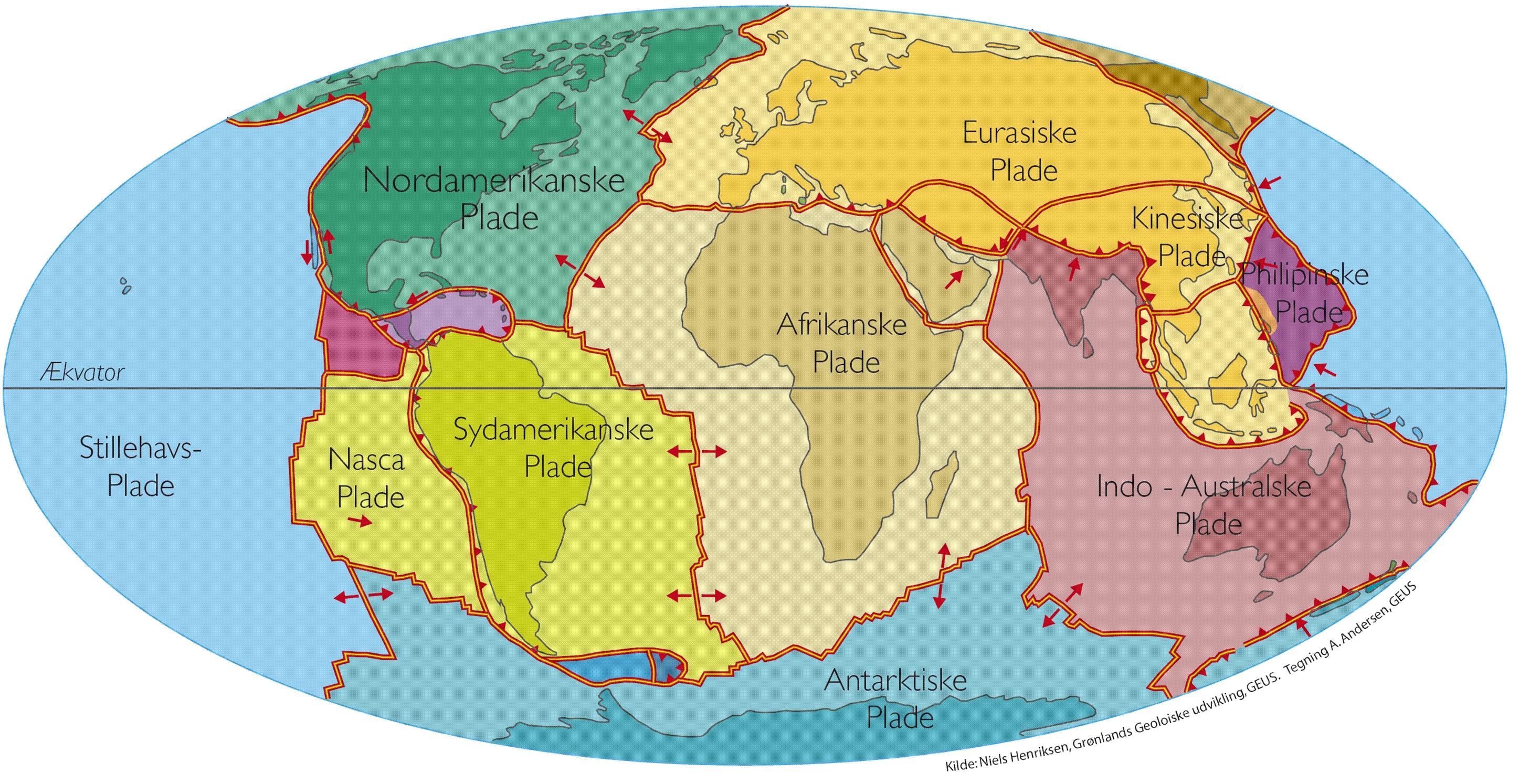 Jorden Pladetektonik Jordskaelv Og Vulkaner