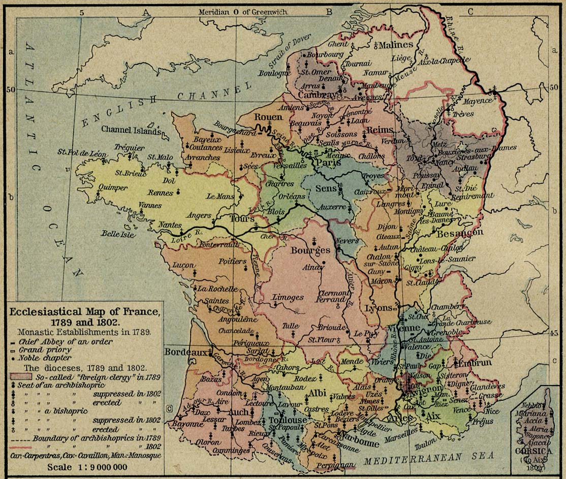 Map France 987.History Of France Prehistory To 987
