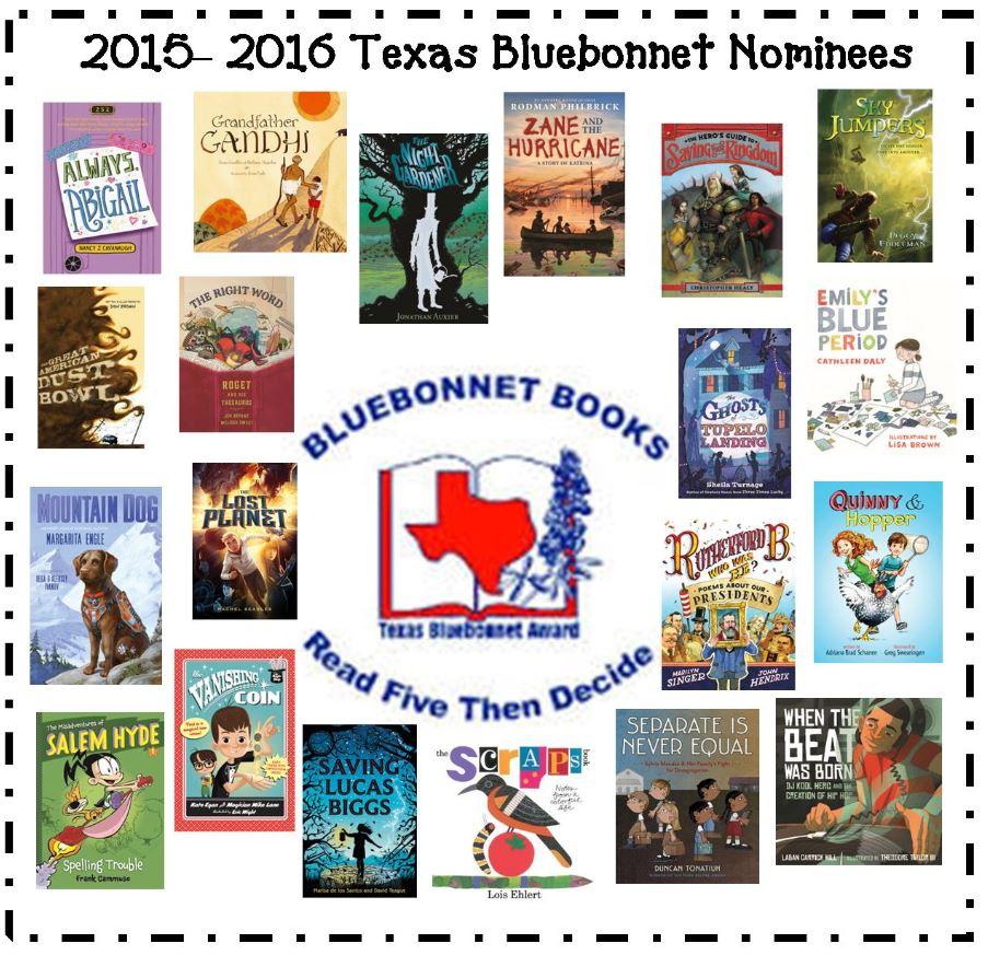 2015-2016 Bluebonnet Nominees - ThingLink