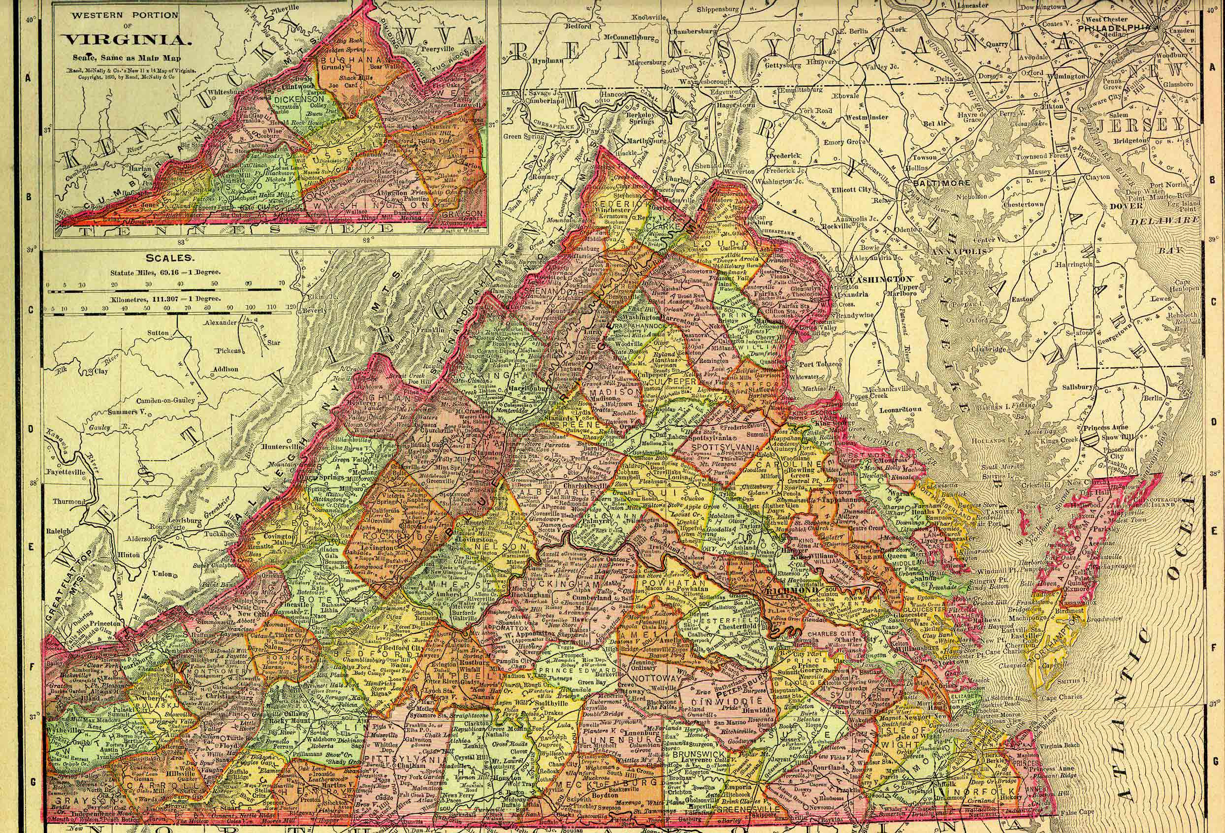 Virginia Colony By David Resinos ThingLink - Virginia physical map