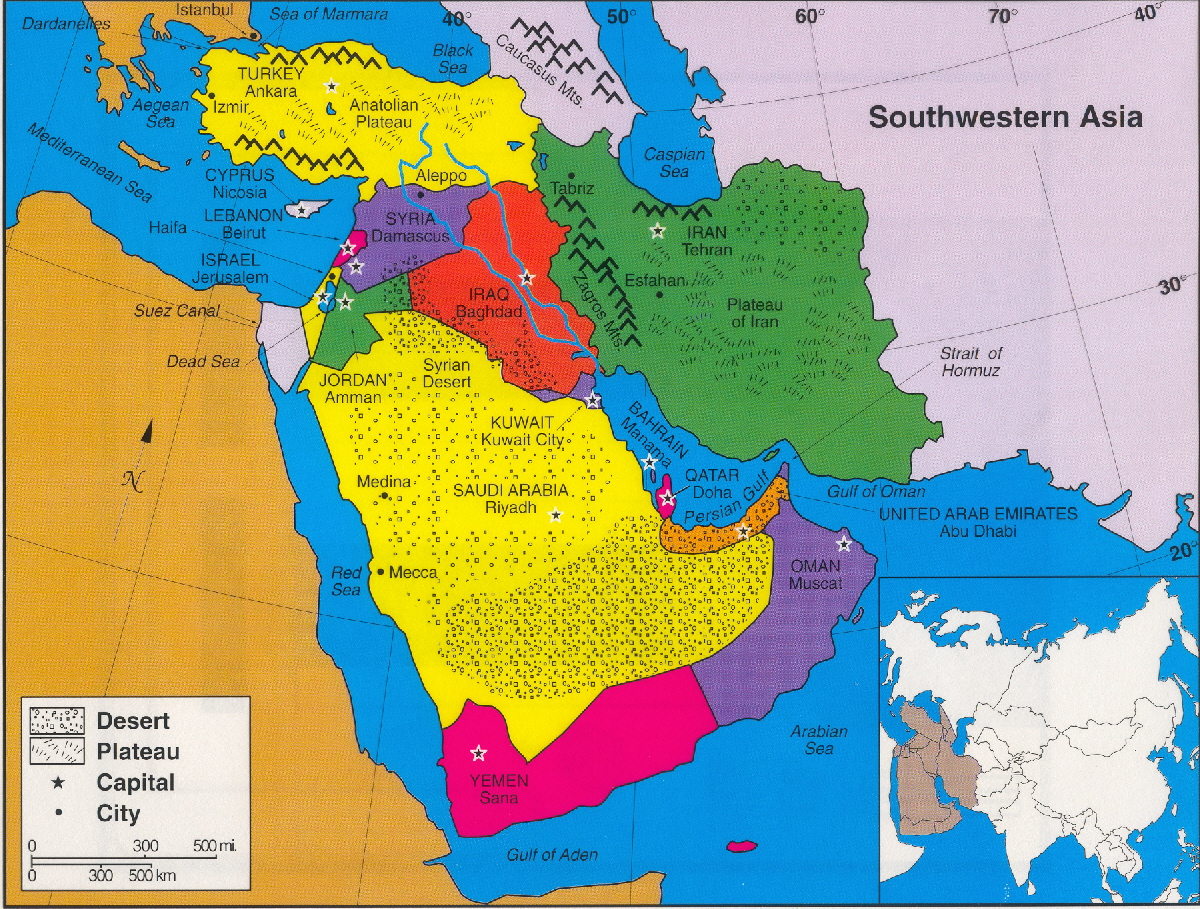 Image of: South Western Asia