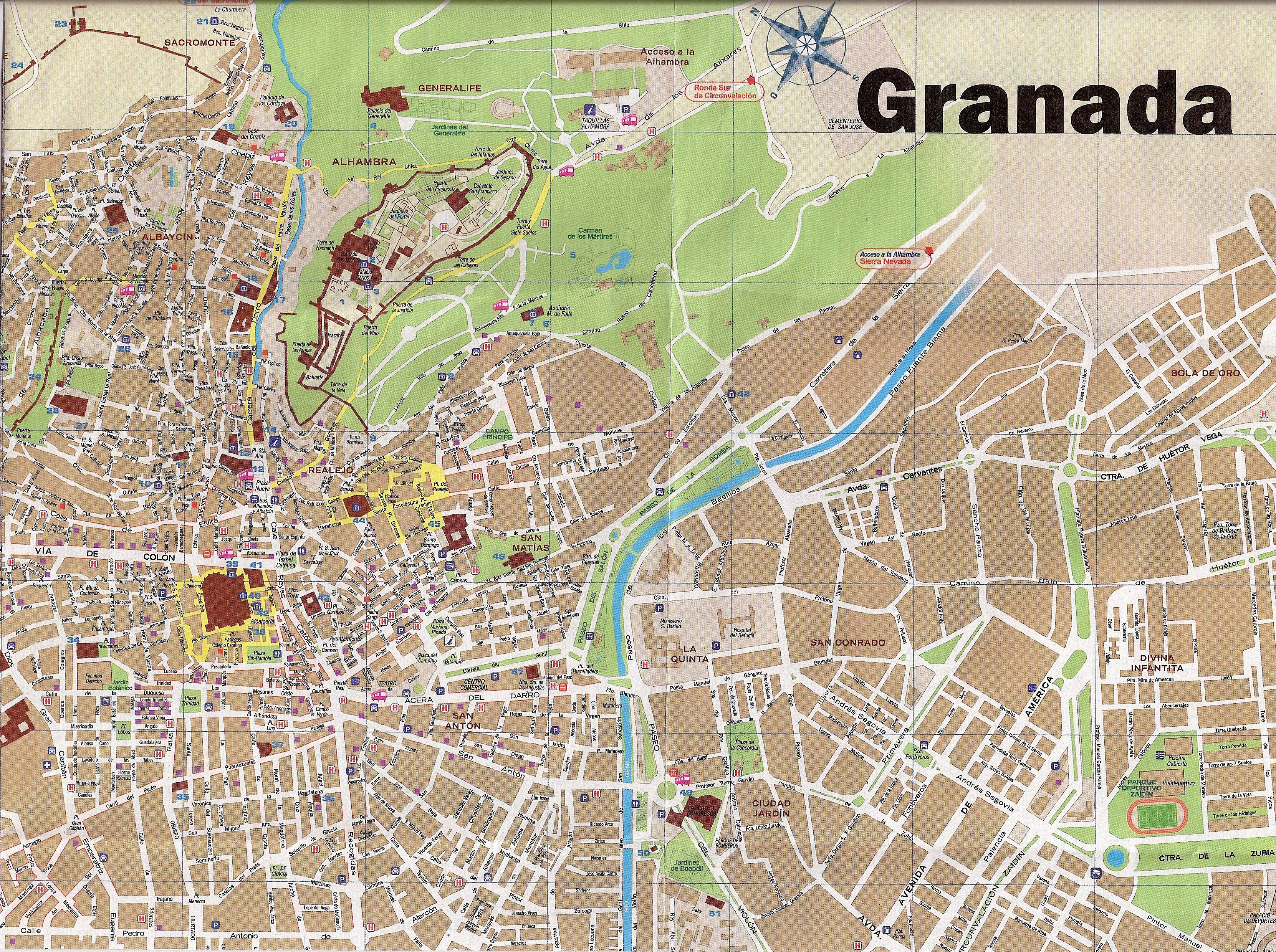 MAP OF GRANADA - Map Guide GRANADA MAP