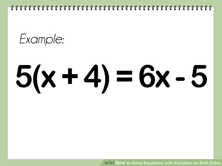 Equations With Variables On Both Sides - Tessshebaylo