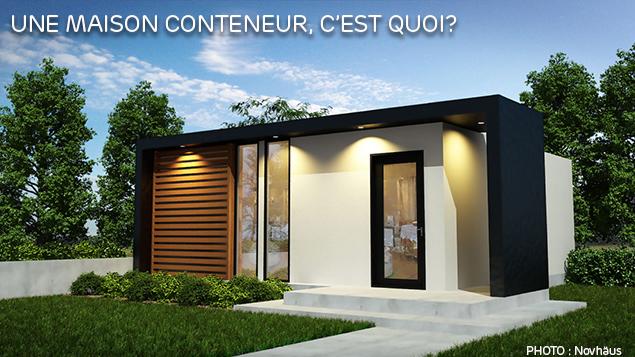 Maison containeur top une maison conteneur a jamais de la for Maison conteneur tarif