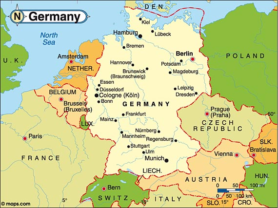 Germany Is A Western European Country With A Terrain Of V - Western european countries