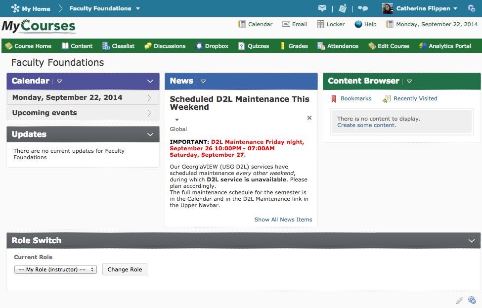 Ggc D2l Course Homepage