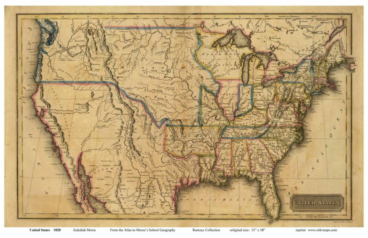 Map Of The US In The ThingLink - Early us maps