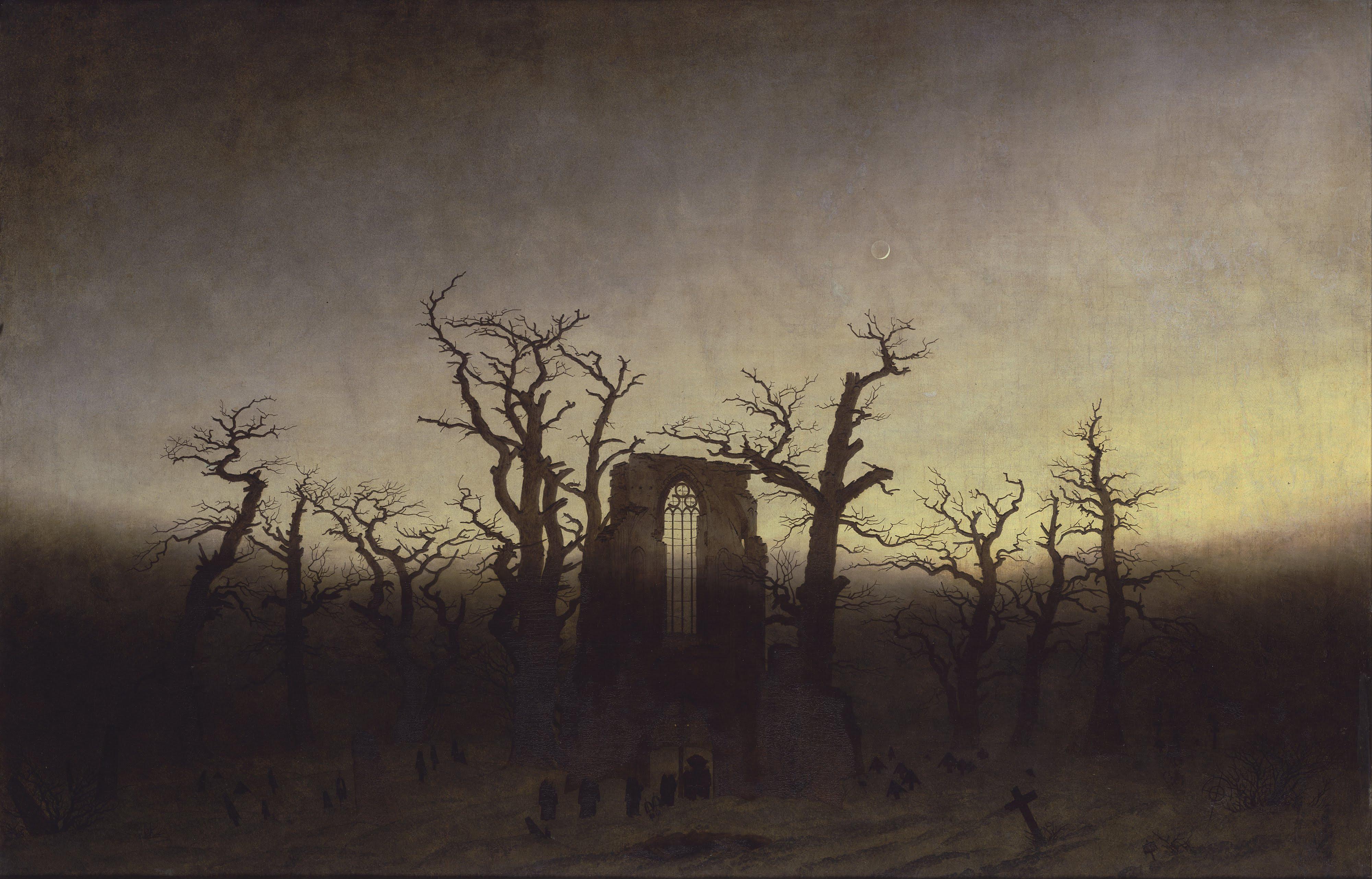 L Abbaye Dans Une Forêt De Chênes Caspar David Friedrich