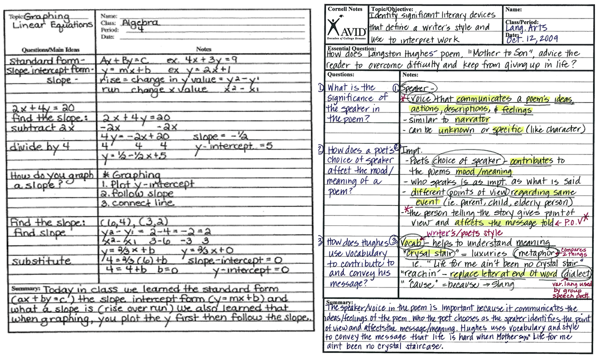 10+ Cornell Note PDF Samples