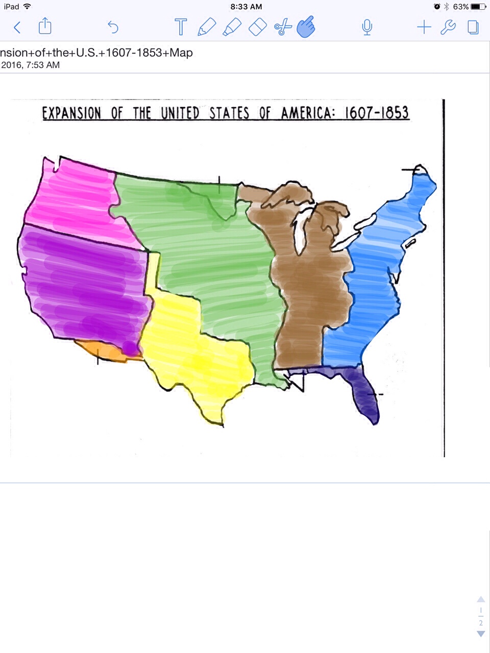 An Interactive Image ThingLink - Interactive map of us expansion